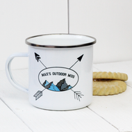 Personalised 'Mountains' Enamel mug