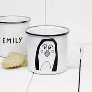 Personalised 'Penguin' Enamel mug