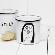 Personalised 'Penguin' Enamel mug