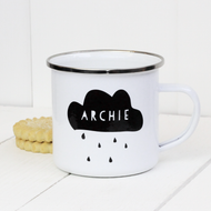 Personalised 'Cloud' Enamel mug