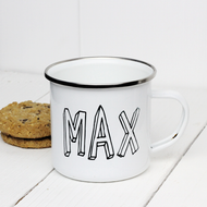 Personalised 'Bubble'  Enamel mug