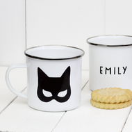 Personalised 'Catwoman'  Enamel mug