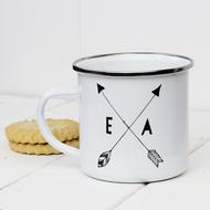 Personalised 'Initial'  Enamel mug