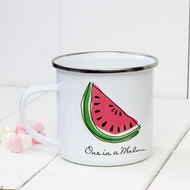 Personalised 'Fruit'  Enamel mug
