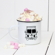 Personalised 'Camper Van' Enamel mug