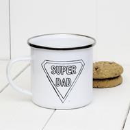 'Superdad' Enamel mug