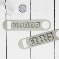 Personalised 'Scrabble Name' Bottle Opener