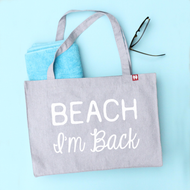 'Beach I'm Back' Personalised Large Tote Bag