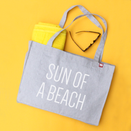 'Sun Of A Beach' Personalised Large Tote Bag