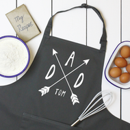 Personalised 'Dad Or Mum Arrow' Apron
