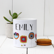 Personalised 'Flower' mug