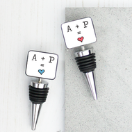 Personalised 'Couple Initial Wine'  Bottle Stopper