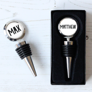 Personalised 'Bold Name Wine  Bottle Stopper