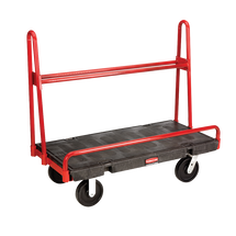 Rubbermaid Commercial A-Frame Panel Truck, 2000-lb Cap., 24 1/4w x 48d x 32h, Black