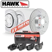 Hawk Performance - Sector 27 Rotor/Pad Kit for Genesis Coupe 10-16 NON-BREMBO