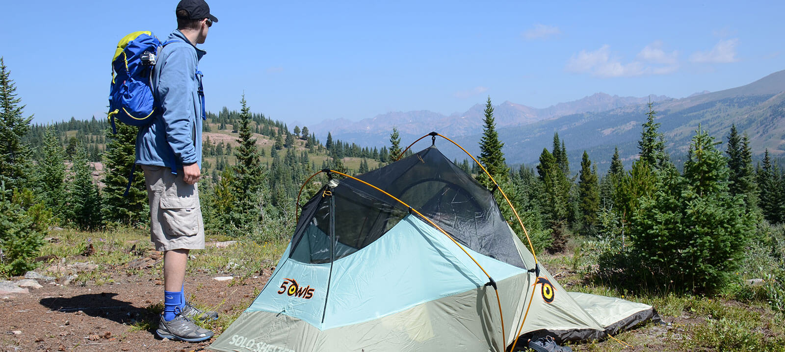 Hiking with 5 Owls Personal Tents