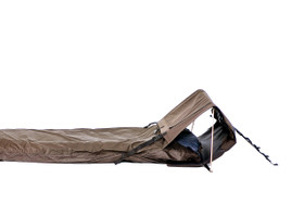 Head-end tent can have open or closed sides for ultimate flexibility
