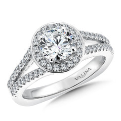 Valina Round Halo Engagement Ring R026W