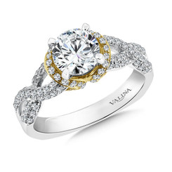 Valina Round Solitaire Engagement Ring R090W