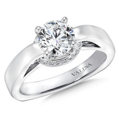 Valina Round Solitaire Engagement Ring R139W