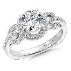 Valina Round Halo Engagement Ring R146W