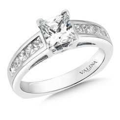 Valina Princess Cut Side Stone Engagement Ring R153W
