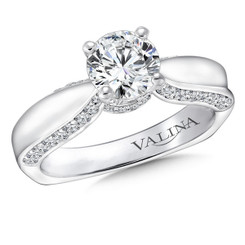 Valina Round Solitaire Engagement Ring R9246W