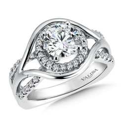 Valina Round Halo Engagement Ring R9249W