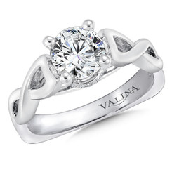 Valina Round Solitaire Engagement Ring R9257W