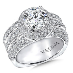 Valina Round Halo Engagement Ring R9259W