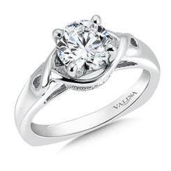 Valina Round Solitaire Engagement Ring R9270W