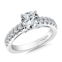 Valina Round Side Stone Engagement Ring R9292W