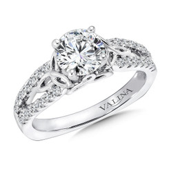 Valina Round Split Shank Engagement Ring R9314W
