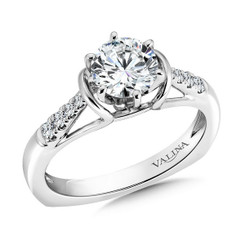 Valina Round Solitaire Engagement Ring R9319W
