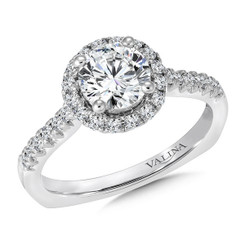 Valina Round Halo Engagement Ring R9323W
