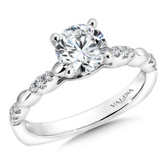 Valina Round Solitaire Engagement Ring R9331W