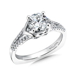 Valina Round Split Shank Engagement Ring R9336W