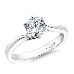 Valina Round Solitaire Engagement Ring R9361W
