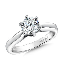Valina Round Solitaire Engagement Ring R9363W