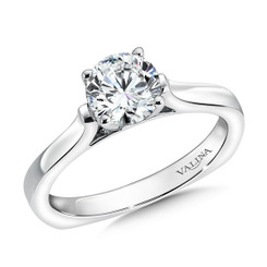Valina Round Solitaire Engagement Ring R9371W