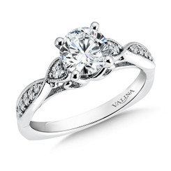 Valina Round 3 Stone Engagement Ring R9377W