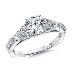 Valina Round Side Stone Engagement Ring R9379W