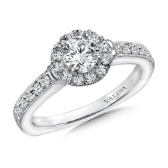 Valina Round Halo Engagement Ring R9388W