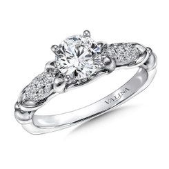 Valina Round Side Stone Engagement Ring R9413W