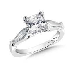 Valina Princess Cut Solitaire Engagement Ring R9416W-1.50