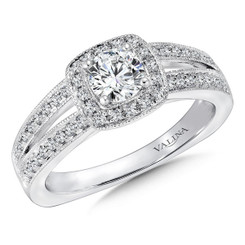 Valina Round Halo Engagement Ring R9417W