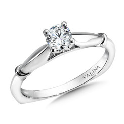 Valina Round Solitaire Engagement Ring R9424W-.33
