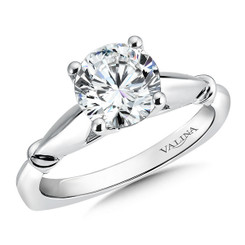 Valina Round Solitaire Engagement Ring R9424W-1.50