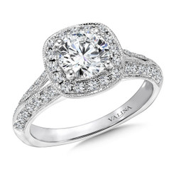 Valina Round Halo Engagement Ring R9429W