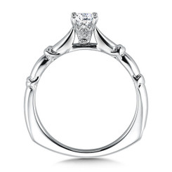Valina Princess Cut Solitaire Engagement Ring R9431W-.33